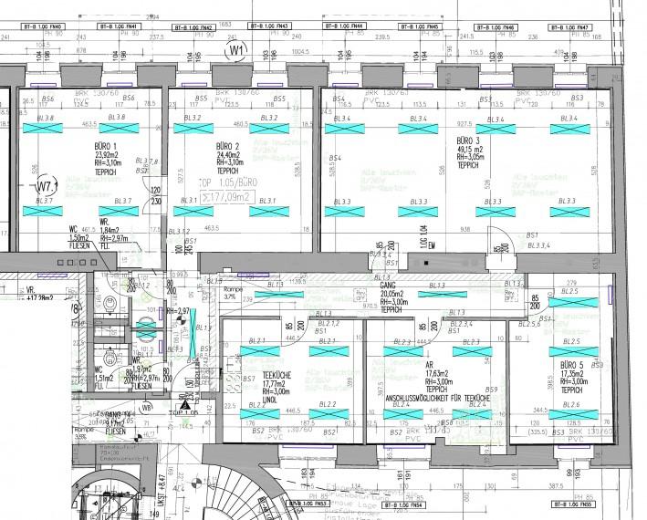 Mietobjekt - Bürofläche 177m², 1060 Wien, zentrale Lage - gute öffentliche Verkehrsanbindung (Objekt Nr. 050/01781)